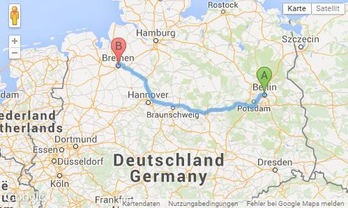 karte von deutschland und die online welt die berechnung der entfernungen zwischen den st dten. Black Bedroom Furniture Sets. Home Design Ideas
