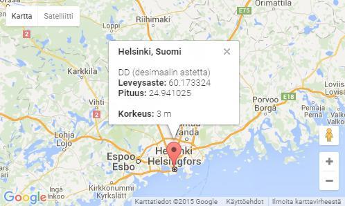 Suomen Kartta Ja Online Maailma Laskeminen Etaisyyksien